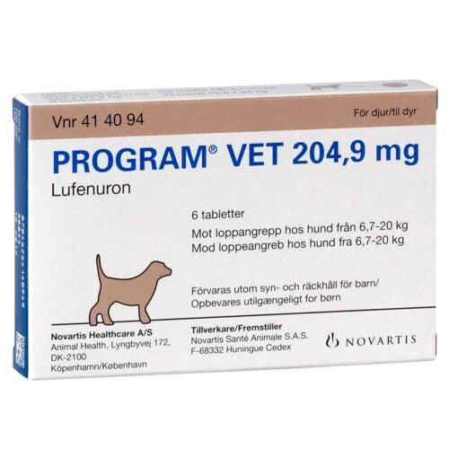 Program Vet loppetablet, til hund 7-20 kg