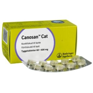 Led Canosan til kat og små hunde 60 x 600 mg