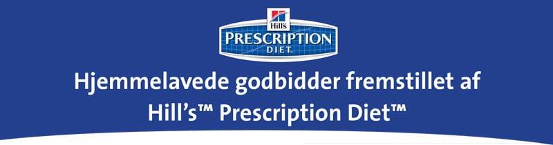 Hjemmelavede godbidder til hunde lavet af Prescription diet fra Hills