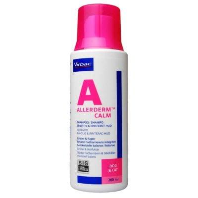 Virbac, Allerderm Calm shampoo til sensitiv og irriteret hud på hunde, katte og heste