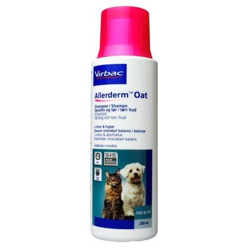 Virbac Allerderm Oat Shampoo til følsom og tør hud på hunde, katte og heste