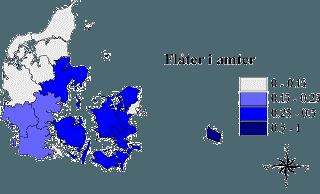På figuren her er sammenhængen mellem tætheden af rådyr, jordens vandindhold og antal flåter vist grafisk. Kilde: Miljøministeriets hjemmeside.